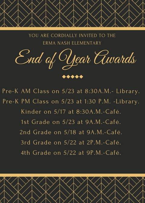 Awards Schedule