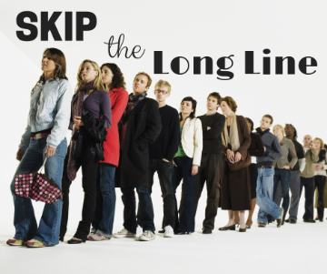 Image of long line